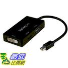 [美國直購] StarTech.com Travel A/V adapter MDP2VGDVHD 3-in-1 Mini DisplayPort to VGA DVI or HDMI converter