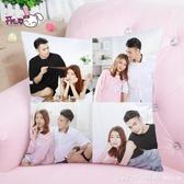 diy雙面可印照片抱枕訂製來圖定做真人靠枕logo自制枕頭情侶禮物 俏girl YTL