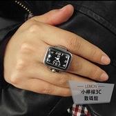 方形男士戒指表悠閑時尚韓版手表學生【小檸檬3C】