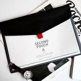 全館83折 二月集韓國文具簡約半透明A4文件夾文件袋資料包票據收納袋