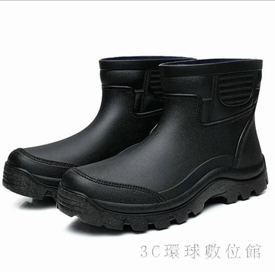 雨靴男 雨鞋環保材料耐男士短筒雨靴出口防滑套鞋廚師鞋LB935【3C環球數位館】