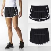 adidas 短褲 Womens 100M Dash Knit Shorts 黑 白 運動褲 女款 【PUMP306】 AI3010
