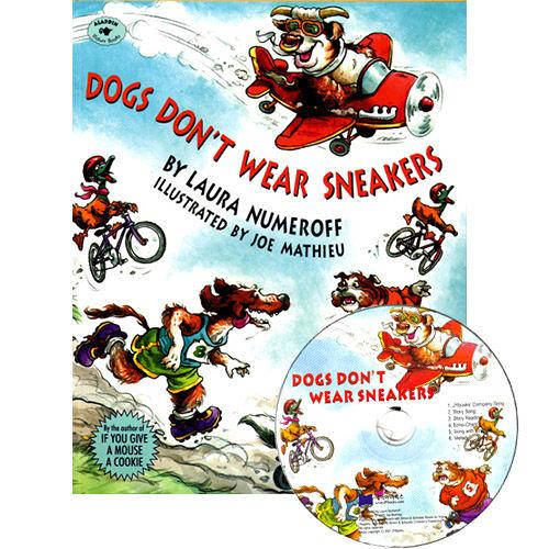 【麥克書店】DOGS DON'T WEAR SNEAKERS /英文繪本+CD《主題:想像.幽默》