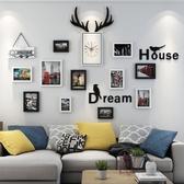 掛鐘靜音鐘錶壁鐘北歐鹿頭掛鐘客廳個性創意時尚時鐘現代簡約家用裝飾多莉絲旗艦店