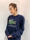 【蟹老闆】Lacoste男大學T 大鱷魚 藍