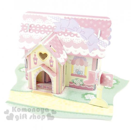〔小禮堂嬰幼館〕美樂蒂 3D立體模型組合屋玩具《粉.蕾絲緞帶房屋》適合3歲以上孩童 4902923-14381