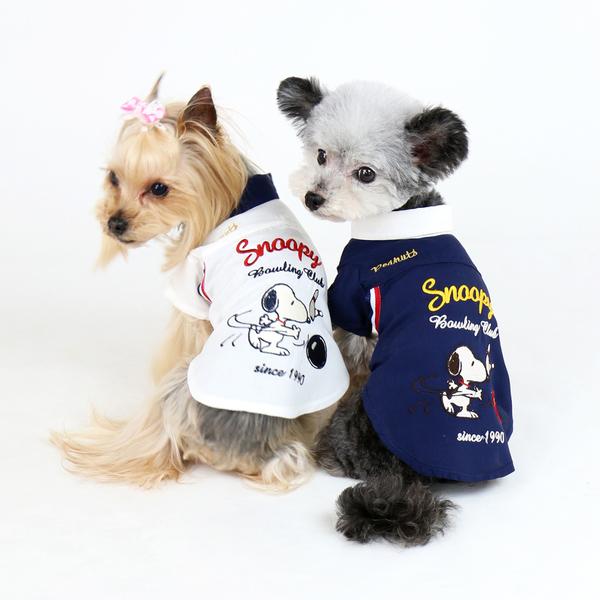 【PET PARADISE 寵物精品】SNOOPY 保齡球夏日襯衫/藍 (SS/DS) 寵物用品 寵物衣服《SALE》