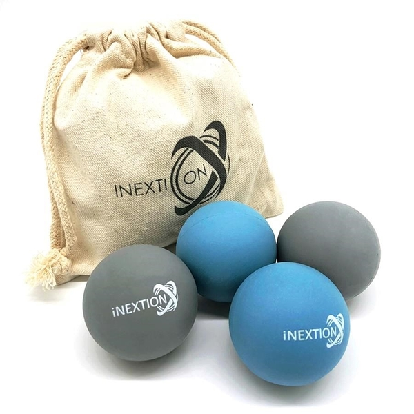 【南紡購物中心】【INEXTION】Therapy Balls 筋膜按摩療癒球(4入) - 淺藍+天灰 台灣製