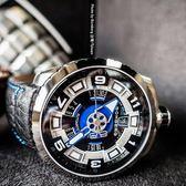 BOMBERG 炸彈錶 BOLT-68 自動上鍊機械錶-藍x銀/45mm BS45ASS.045-1.3
