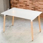 【家具+】米諾品味生活休閒長型桌餐桌茶几桌(3色任選)白色
