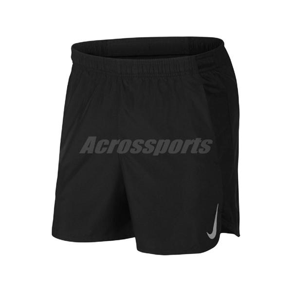 Nike 短褲 Challenger Running Short 黑 銀 男款 慢跑褲 運動 【PUMP306】 AJ7686-010