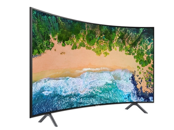 《新竹名展音響》 SAMSUNG 三星UA55NU7300WXZW  55吋 4K UHD 黃金曲面液晶電視 另售KD-55A8F