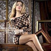 透膚貓裝│心機時刻明豔二件式網衣COSPLAY開襠情趣內衣薄紗性感睡衣專賣店哪裡買特賣會