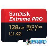 【公司貨,170MB/s】 SanDisk Extreme Pro microSDXC 128GB (A2 U3 V30,SDSQXCY-128G,終身保固) 128g
