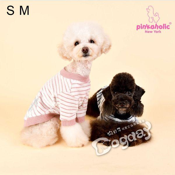 紐約《Pinkaholic》井字亮點T恤 L號 小狗衣服 小型犬衣服 進口狗衣服