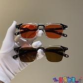 太陽眼鏡 復古韓版新款太陽小方框米釘墨鏡女潮個性眼鏡男圓臉歐美網紅同款 618狂歡