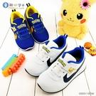 童鞋城堡-神奇寶貝(寶可夢) 簡約皮感運動鞋 PA7337 藍/白(共二色)
