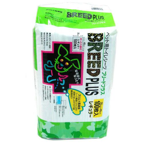 【寵物王國】日本SuperCat-BREED PLUS寵物尿片35x45cm-100入【單包可超取】