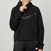 Nike NSW tch flc wr hoodie fz 女款 黑 運動 慢跑 連帽 外套 CW4299-010