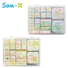 【日本正版】角落生物 盒裝印章組 16種圖樣 附有印泥 玩具印章 手帳印章 角落小夥伴 656078 703123