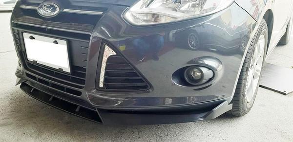福特 FOCUS MK3 雙層 消光黑 四件式 下巴 下擾流板 保險桿 改裝擾流板 通用型下巴 通用型擾流