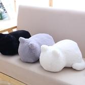 抱枕抱枕可愛趴趴背影貓咪靠墊辦公室午睡枕頭女友生日禮物春季新品