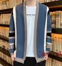 針織外套 男士針織衫開衫秋季2020新款韓版潮流個性帥氣條紋毛衣外套男外穿 VK3073