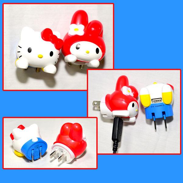 Hello Kitty USB充電插座 家用插座轉USB充電 任何廠牌手機及平板電腦等都適用