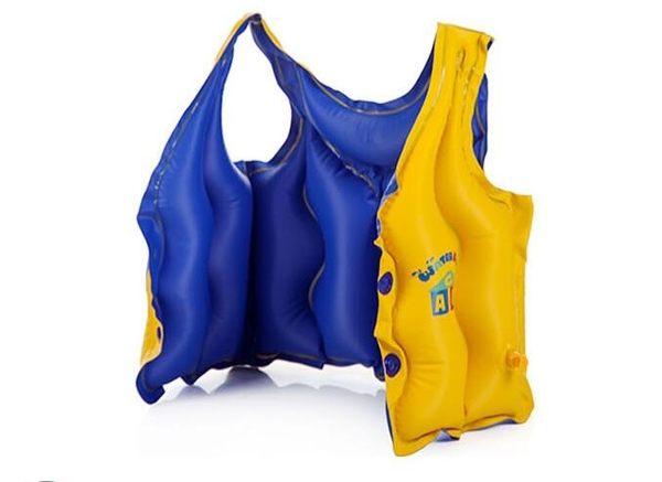 兒童分體式充氣浮力遊泳背心救生衣tz241【歐爸生活館】