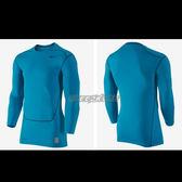 NIKE 束衣 Pro 2.0 緊身 長袖 萊卡 Dri-Fit  快排 保暖 單車 慢跑 湖水藍 449794-413 【SP】