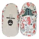 英國POCONIDO 手工鞋|嬰兒鞋|學步鞋-動物騎車趣-淺灰(6~24M)