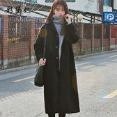 毛呢外套  韓版修身女裝毛呢外套時尚百搭大碼中長款呢子大衣