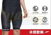 【山水網路商城】SPEEDO 男人三鐵下褲 防曬水母衣 防寒衣 泳褲 Comp 黑-黃 15105003