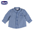 chicco-小怪獸-格紋長袖襯衫