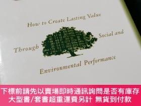 二手書博民逛書店The罕見Sustainable Company: How to Create Lasting Value thr