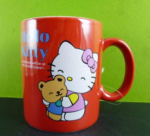 【震撼精品百貨】Hello Kitty 凱蒂貓~馬克杯-紅熊熊