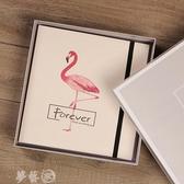 相冊皮面手工diy相冊黏貼式影集相薄創意浪漫情侶戀愛紀念本生日禮物 貝芙莉