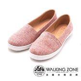 WALKING ZONE 日系感休閒平底 女鞋-粉紅(另有黑、粉紫)