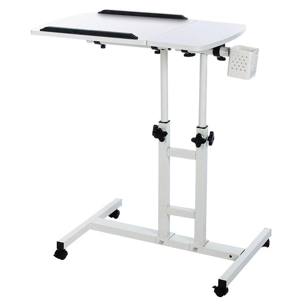 威瑪索 電腦桌 360度升降工作桌-霧白 懶人桌 電腦桌 NB桌 邊桌