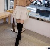 《CA1874-》麂皮質感亮粉刷色短裙褲裙 OB嚴選