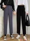 西裝褲 直筒褲子女外穿2021年春秋新款顯瘦高腰西裝褲百搭寬鬆黑色休閒褲 愛丫 新品