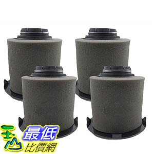 [106美國直購] 4 Dirt Devil F16 Filter Kits w/ HEPA Filter & Foam Pre-filter 1JW1100000, 2JW1000000