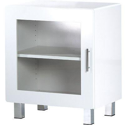 【藝匠】大都會單門鏡面收納櫃/展示櫃 書櫃 書房 家具 置物櫃 櫃子 收藏 組合櫃 (白)