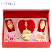 EZGOLD♥可愛甜心♥彌月金飾音樂禮盒 (0.70錢)