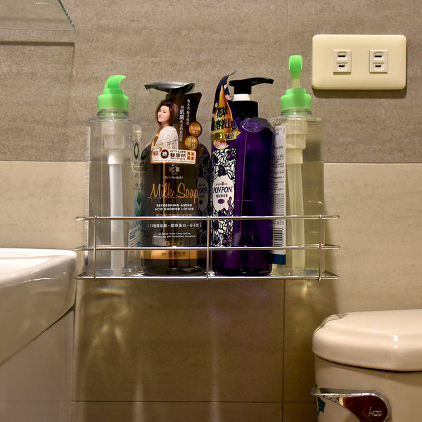 高瓶罐架 304不鏽鋼無痕掛勾 易立家生活館 舒適家企業社 廚房浴室收納瓶罐置物架