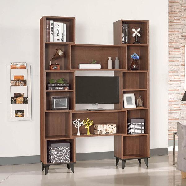 【森可家居】麥納德淺胡桃伸縮書櫃 7SB230-3 隔間開放書櫥 收納 木紋質感 北歐工業風  MIT 台灣製造
