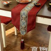 桌巾 中式禪意桌旗現代簡約歐式美式餐桌布鞋櫃電視櫃蓋巾床旗床尾巾餐墊 童趣屋