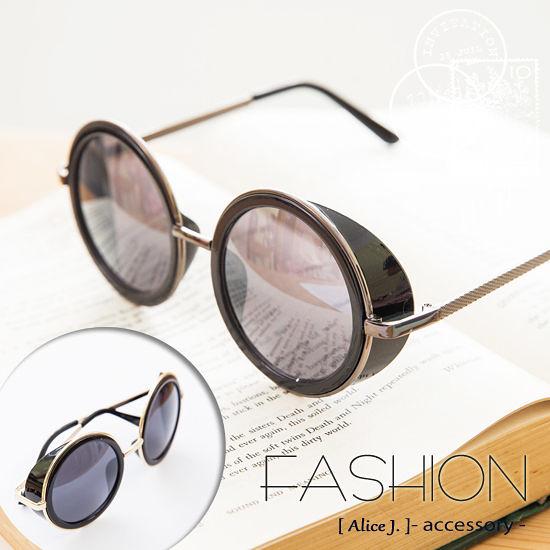 完美復古圓框炫彩太陽眼鏡 墨鏡-10色