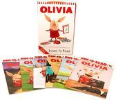 ◇ 小豬奧莉薇‧盒裝書 ◇OLIVIA LOVES TO READ @內含六本簡易讀本