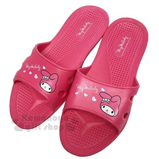 〔小禮堂〕美樂蒂 極輕防滑塑膠拖鞋《桃.愛心》室內拖鞋.浴室拖鞋 4713052-38962